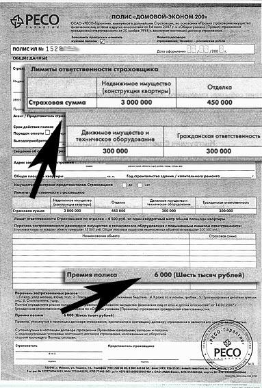 Страховая компания ресо электронный полис